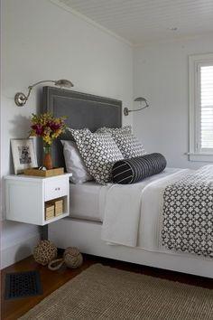 no decor above bed