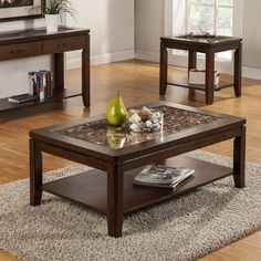 Desire to order Granada Coffee Table by Alpine Furniture 3 Piece Coffee Table Set, Marble Top Coffee Table, Cool Coffee Tables, Coffee Table With Storage, Table Furniture, Living Room Furniture, Living Room Decor, Welded Furniture, Furniture Ideas