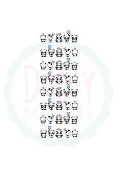 Molde Panda - Capinha de celular | Assista o tutorial: https://www.youtube.com/watch?v=Y83-z20vViU