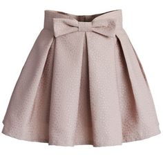 Chicwish Sweet Your Heart Bowknot Pleated Mini Skirt in Pink