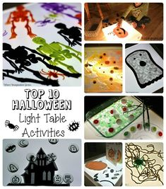 Top 10 Halloween Activities on the Light Table (from Where Imagination Grows)