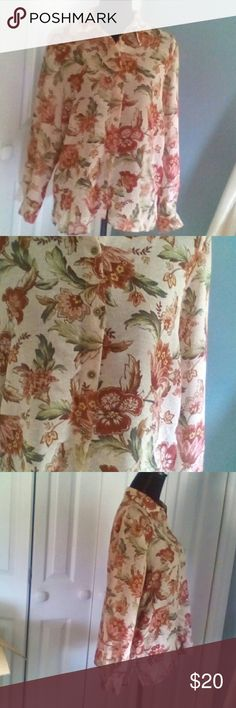 Blouse This blouse is so beautiful I love it,and wore it so much in my younger days, that in certain areas it shows but she still has plenty of love left in her. I found her in one of my drawers tucked away. I'm one of those ladies that tucks things away simply because I yo-yo diet. Yet she must be cleaned out from my closet to make room for the new clothes I got from you ladies.?? Alfred Dunner Tops Blouses
