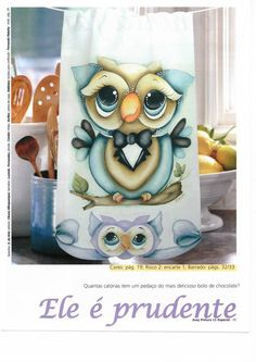 One Stroke Painting, Owl Crafts, Country Paintings, Owl Bird, Christmas 2015, Fabric Painting, Illustrations, Wood Projects, Decoupage