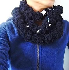 Maxi gola em lã sem usar as agulhas