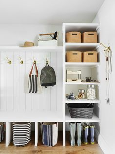 eight Steps to Constructing a Sensible Organized Pantry Mudroom Emily Henders. eight Steps to Constructing a Sensible Organized Pantry Mudroom Emily Henderson Decor, Mudroom Organization, Home Organization, Room, Mudroom, Home, Mudroom Design, New Homes, Pantry Design