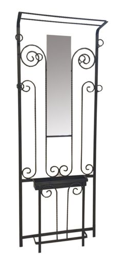 French Art Deco Wrought Iron Hall Tree | Modernism
