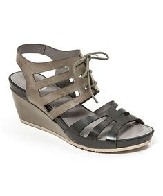 Another great find on #zulily! Black Jackpot Leather Sandal by French Blu #zulilyfinds