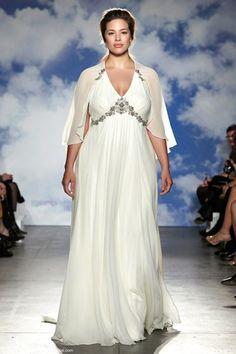 Vestidos de Boda para Gorditas Modelo Helénico de Jenny Packham