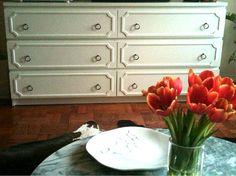 Ikea Malm dresser transformed using overlays from Danika & Cheryle