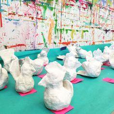 papier mache hen | www.smallhandsbigart.com