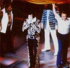 Elvis on stage at the Las Vegas Hilton august 31  1973.