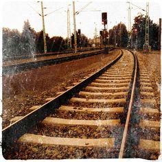 Neufeld a. Railroad Tracks, Austria, Ads, Instagram, Train Tracks