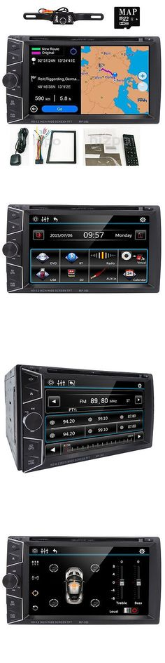 Video In-Dash Units w GPS: 6.2 Hd 2 Din Gps Navigation In Dash Car Stereo Dvd Player Bluetooth With Camera -> BUY IT NOW ONLY: $113.98 on eBay!