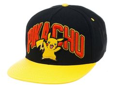 Jockey cap with Pikachu from the anime and video game series Pokemon.  Jockey cap made of high quality cotton material b542bf8dac99a