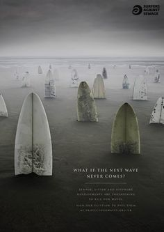 Surfers Against Sewage - Protect Our Waves - Surfboard Graveyard - What if the next wave never comes? (http://www.protectourwaves.org.uk)