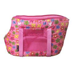 Bolsa de Transporte Em Lona - Estampa Flores Rosa - São Pet - Bolsa para…