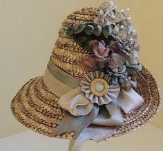 French Bebe Doll Hat, Mel Alpert Chapeau - Ashley's Dolls #dollshopsunited