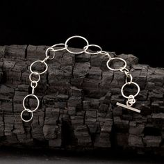 Sterling Silber Armband  Silber Kette Armband  Circle von Artulia