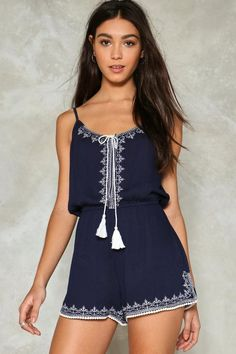 Drop By Tassel Romper