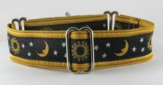 Sun Moon & Stars: The Regal Hound - Unique fashionable designer martingale and buckle dog collars, from cute to fancy, humane and soft choke for all canine breeds