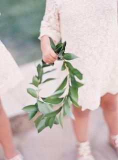 Leafy flower girl crown: http://www.stylemepretty.com/little-black-book-blog/2016/06/24/beautiful-blooms-cute-kids-pinterest-wedding/ | Photography: Sposto Photography - http://spostophotography.com/