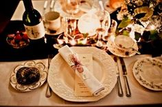 Winter wedding by candle light - www.thevintagehire.com