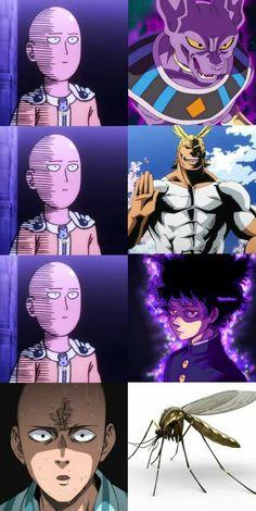 Anime One Punch Man, One Punch Man 3, One Punch Man Funny, Saitama One Punch Man, Anime Meme, Funny Anime Pics, Otaku Anime, Manga Anime, Anime Character Drawing
