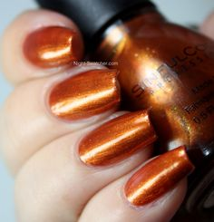 copper pot. This is a gorgeous metallic copper polish. It looks like a clean (old) penny