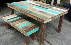 Pallet Dining Table And Bench Set | Pallet Furniture DIY