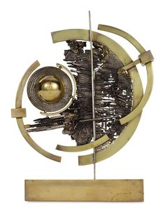 Arnaldo Pomodoro - STUDIO, 1967, silver and brass  1967