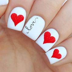 Valentine's day Nail Decal by MilieNailsCreation on Etsy