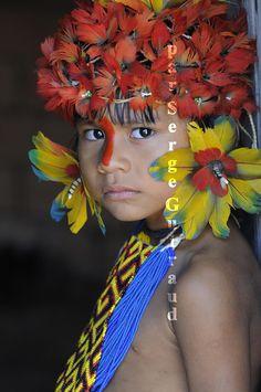 Karajá  child - Ilha do Tocantins - Brazil - - Inspiração criação da marca Zuma Design - www.zumadesign.com.br