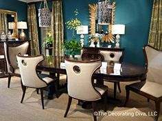 @Jonathan Nafarrete Charles Fine Furniture Dining room collection from Jonathan Charles sets the tone for an elegant and stylish dinner party. #hpmkt