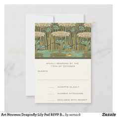Response Cards, No Response, Wedding Rsvp, Art Nouveau, Lily, How To Plan, Prints, Orchids, Lilies
