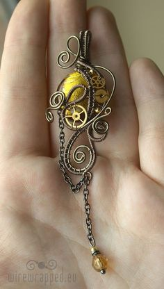 Yellow gold steampunk pendant by ukapala on Etsy. Listing's been sold, but I love it.