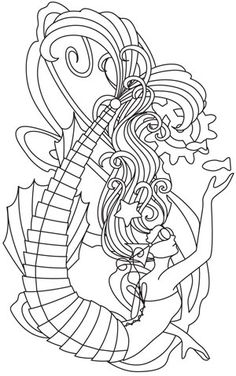 Mechanica Aquatica - Mermaid | Urban Threads: Unique and Awesome Embroidery Designs