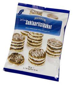"""suklaariisikakku - näitä uskaltaa painoaan """"hallitsevakin"""" syödä. Ovat mun herkkua, kunhan EI TUMMALLA  suklaalla päällystettjä (merkillä ja koolla ei väliä)"""