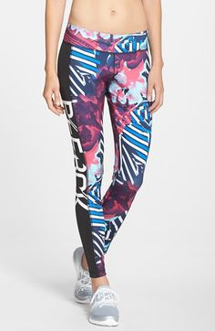 Reebok+Graphic+Print+Leggings+available+at+#Nordstrom