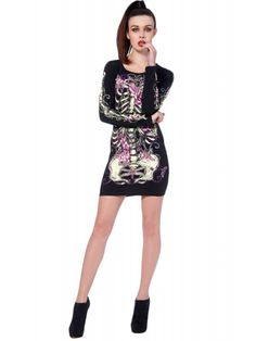 Jaw Breaker Women's Skelegarden Dress - Black