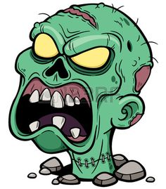 Vector illustration of Cartoon Zombie head photo