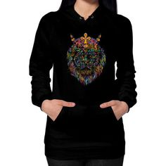 Bright Like A King Hoodie (on woman)