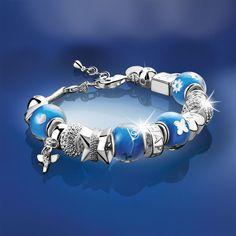 8a79ad34b7ba6 Newbridge Silverware Jewellery - Serenity Beaded Bracelet - Blue - Was  £84.00 Now £42.00