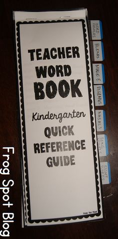 Teacher Word Book Go-To Reference Guide Phonics/Writing/Spelling/Sight Words $