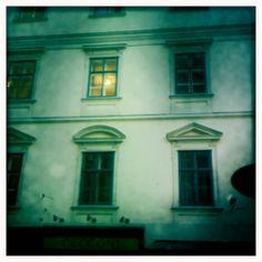 Windows in Vienna via Beers & Beans and Instatogaroundtheworld.com