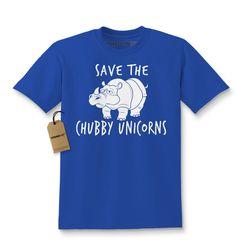 Save The Chubby Unicorns Rhino Kids T-shirt