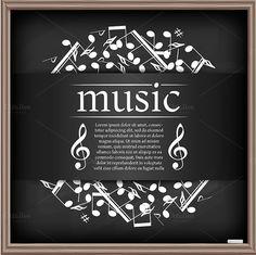 Free Banner Templates Music (3) | PROFESSIONAL TEMPLATES Free Banner Templates, Banner Background Hd, Banner Images, School Posters, Music Publishing, Choir, Lorem Ipsum, Chalkboard, Musicals