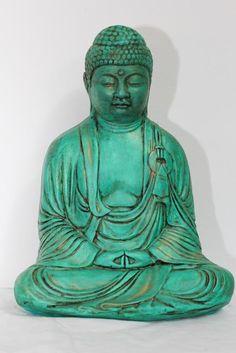 buda azul estatua - Buscar con Google Teal Door, Gothic Angel, Gautama Buddha, Ganesha, Feng Shui, Cool Art, Decoupage, Religion, Spirituality