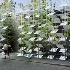 Satellite Architects has designed a gridded structure filled with vegetation for designjunction's event during this year's London Design Festival.