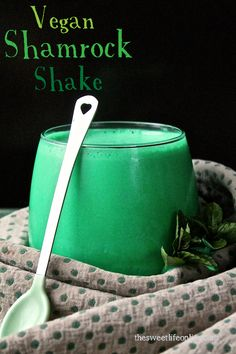 Skip Mickey D's and make your own Vegan Shamrock Shake!