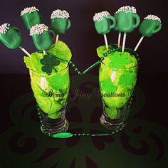St Patrick's Day cake pop mugs! #berryjuicycreations